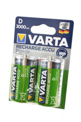 VARTA 56720 Ready 2 Use D 3000мАч BL2, аккумулятор