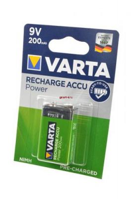 VARTA 56722 Ready 2 Use 9V 200мАч BL1, аккумулятор