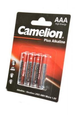 Camelion Plus Alkaline LR03-BP4 LR03 BL4, элемент питания, батарейка
