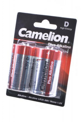 Camelion Plus Alkaline LR20-BP2 LR20 BL2, элемент питания, батарейка