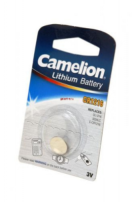 Camelion CR1216-BP1 CR1216 BL1, элемент питания, батарейка