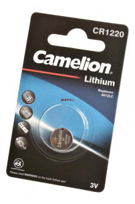 Camelion CR1220-BP1 CR1220 BL1, элемент питания, батарейка