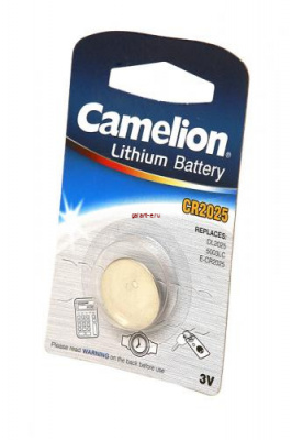 Camelion CR2025-BP1 CR2025 BL1, элемент питания, батарейка