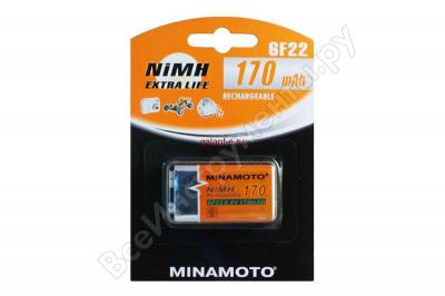 170 mAh аккумулятор 6F22 MINAMOTO Ni-Mh 1/Card