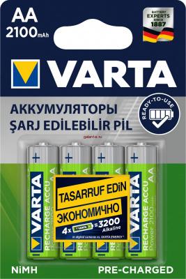 2100mAh аккумулятор AA Varta Ni-Mh 4/card 56706