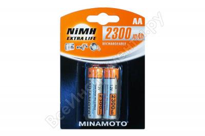 2300mAh аккумулятор AA Minamoto Ni-Mh 2/card