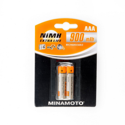 900mAh аккумулятор AAA MINAMOTO Ni-Mh 2/Card