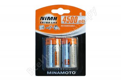 4500mAh аккумулятор D MINAMOTO Ni-Cd 2/card
