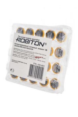 ROBITON PROFI CR2450-HB5.5/20.5 3.0В с выводами под пайку BULK20, в упак 20 шт