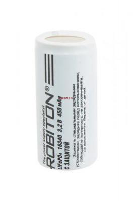 ROBITON LiFe16340-450p 450мАч c защитой PK1