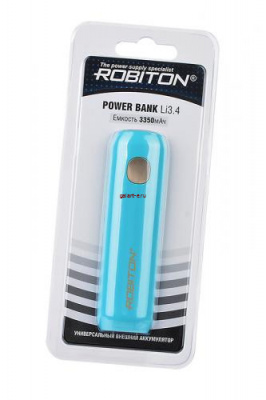 ROBITON POWER BANK Li3.4 IRIS (голубой) 3350мАч BL1