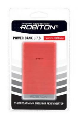 ROBITON POWER BANK Li7.8-R 7800мАч красный BL1