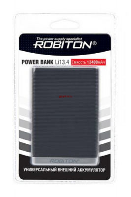ROBITON POWER BANK Li13.4-K 13400мАч черный BL1