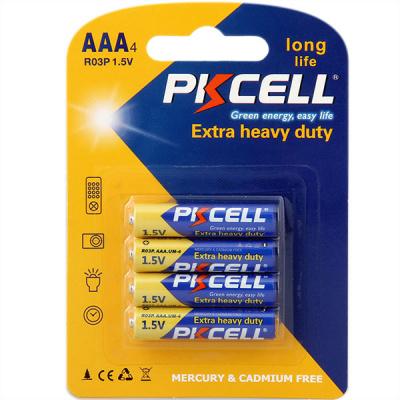 PKCELL R03P-4B тип – AAА 4 шт в блистере, элемент питания солевой