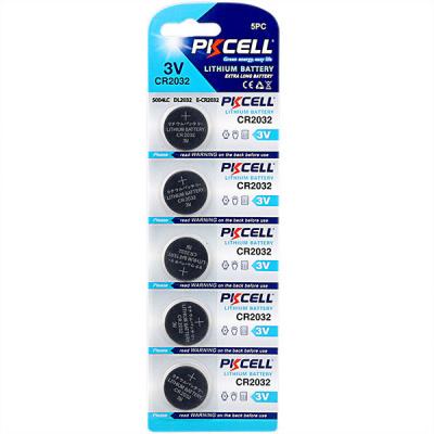 Литиевый PKCELL CR2032-5B тип – CR2032 5 шт в блистере, элемент питания литиевый