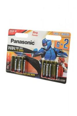 Panasonic Pro Power LR03 6+2шт Power Rangers BL8