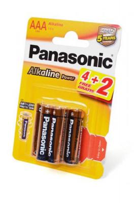 Panasonic Alkaline Power LR03APB/6BP 4+2F LR03 4+2шт BL6