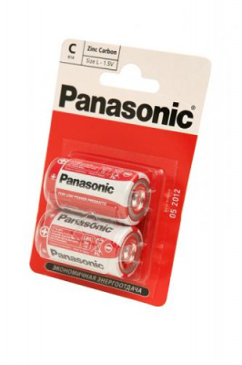 Panasonic Zinc Carbon R14RZ/2BP R14 BL2