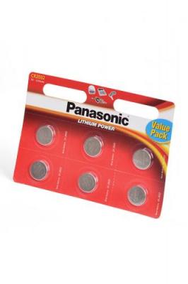 Panasonic Lithium Power CR-2032EL/6BW CR2032 BL6