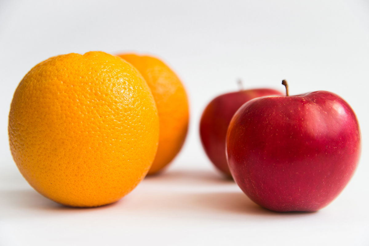 Word story – compare apples and oranges