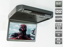 """Автомобильный потолочный монитор 13,3"""" со встроенным DVD плеером AVIS Electronics AVS440T (серый)"""