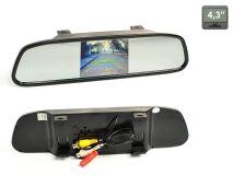 """Зеркало заднего вида со встроенным монитором 4.3"""" AVIS Electronics AVS0401BM"""