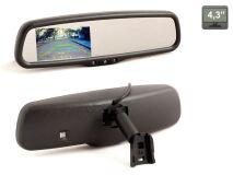 """Зеркало заднего вида со встроенным монитором 4.3"""" AVIS Electronics AVS0489BM"""