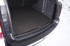 Накладка на порожек в проем багажного отделения для Renault Duster и Nissan Terrano (матовая)