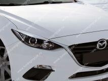 Реснички на фары для Mazda 3 2013-  (для стандартных фар)