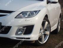 Реснички на фары для Mazda 6 2010 (для моделей с адаптивными фарами)