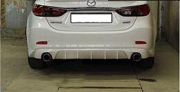 Диффузор заднего бампера для Mazda 6 2013- var№4