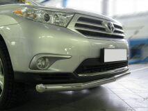 Защита переднего бампера D76(4 секции) для Toyota Highlander 2010-2013