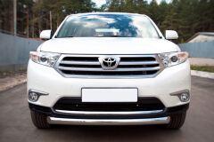 Защита переднего бампера D76 (дуга) для Toyota Highlander 2010-2013