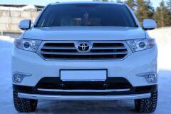 Защита переднего бампера D63 (секции) для Toyota Highlander 2010-2013