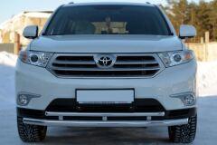 Защита переднего бампера D63 ( секции) / D42 (дуга) для Toyota Highlander 2010-2013
