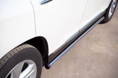 Пороги труба D63 (вариант 2) для Toyota Highlander 2010-2013