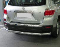 Защита заднего бампера D76(4 секции) для Toyota Highlander 2010-2013