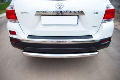 Защита заднего бампера D76(дуга) для Toyota Highlander 2010-2013