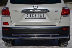 Защита заднего бампера D63 (секции)/ D42 (дуга) для Toyota Highlander 2010-2013