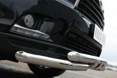 Защита переднего бампера D63 (дуга) D63 (уголки)+клыки для Toyota Highlander 2014-