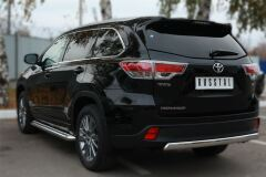 Защита заднего бампера D75х42 (дуга) для Toyota Highlander 2014-