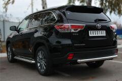 Защита заднего бампера D63 (дуга) для Toyota Highlander 2014-