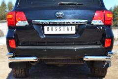 Защита заднего бампера уголки D76(секции) D63 (секции) для Toyota Land Cruiser 200 2012-2015