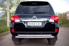 Защита заднего бампера 76/63 (дуга) для Toyota Land Cruiser 200 2012-2015