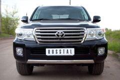 Защита переднего бампера 75х42 для Toyota Land Cruiser 200 2012-2015