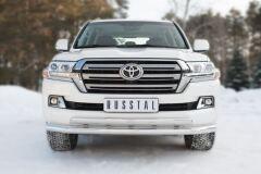 Защита переднего бампера D76 (секции) D75X42 (дуга)+декор паз (кроме EXECUTIVE) для Toyota Land Cruiser 200 2015-