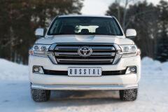Защита переднего бампера D76 (секции) (кроме EXECUTIVE) для Toyota Land Cruiser 200 2015-
