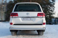 Защита заднего бампера D76 (секции) D42 (уголки) (кроме EXECUTIVE) для Toyota Land Cruiser 200 2015-