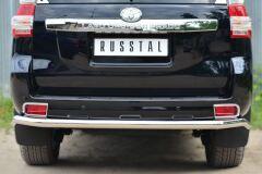 Защита заднего бампера D63 (секции) для Toyota LC Prado 150 2014-