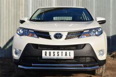 Защита переднего бампера D63 (секции) D42 (дуга) для Toyota Rav4 2013-2015